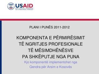 PLAN I I PUNËS  2011-2012