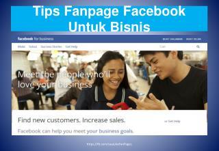 Tips Fanpage Facebook Untuk Bisnis
