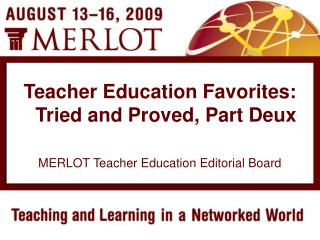 MERLOT Teacher Education Editorial Board