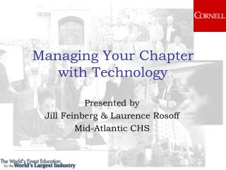 Managing Your Chapter  with Technology