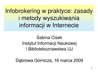 Infobrokering w praktyce: zasady i metody wyszukiwania informacji w Internecie