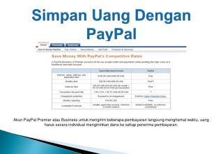 Simpan Uang dengan PayPal