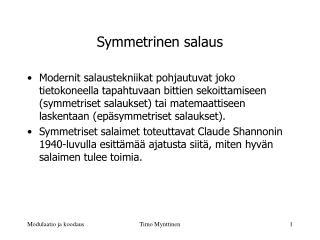 Symmetrinen salaus