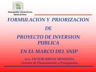 Municipalidad  Distrital de San Martín de Porres