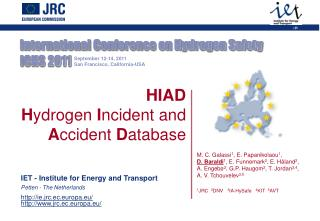 International Conference on Hydrogen Safety  ICHS 2011