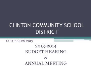 CLINTON COMMUNITY SCHOOL DISTRICT