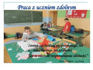 Praca z uczniem zdolnym