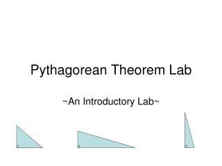 Pythagorean Theorem Lab