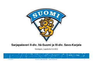 Sarjapalaveri II-div. Itä-Suomi ja III-div. Savo-Karjala