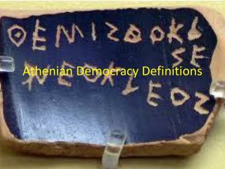 Athenian Democracy Definitions