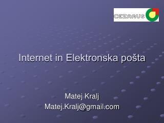 Internet in Elektronska pošta