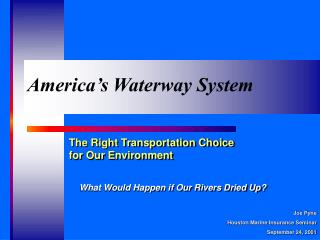 America's Waterway System