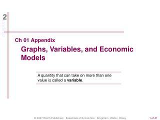 Ch 01 Appendix Graphs, Variables, and Economic Models