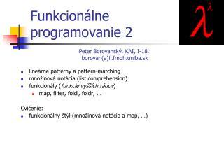 Funkcion álne  programovanie  2
