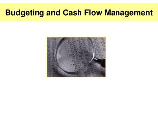 Budgeting and Cash Flow Management
