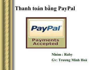 Thanh toán bằng PayPal