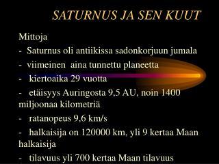 SATURNUS JA SEN KUUT