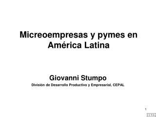 Micreoempresas y pymes en América Latina