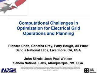 Computational Challenges in Optimization for Electrical Grid Operations and Planning