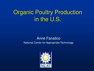 Organic Poultry Production in the U.S.