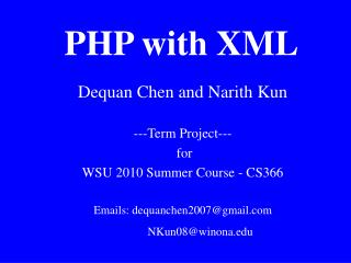 PHP with XML