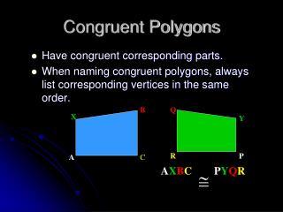 Congruent Polygons
