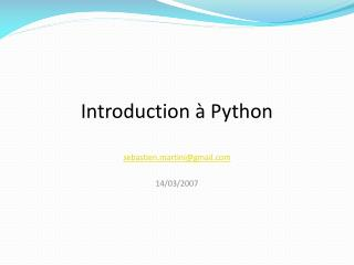Introduction à Python