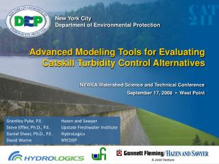 Advanced Modeling Tools for Evaluating Catskill Turbidity Control Alternatives