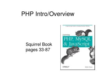 PHP Intro/Overview