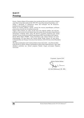 Renstra Fakultas Hukum periode 2010-2014, Halaman: 7