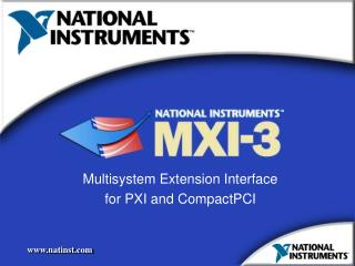 Multisystem Extension Interface for PXI and CompactPCI