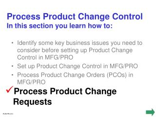 Process Product Change Requests
