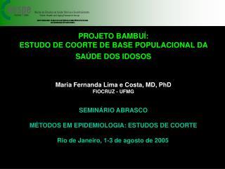 PROJETO BAMBUÍ:  ESTUDO DE COORTE DE BASE POPULACIONAL DA SAÚDE DOS IDOSOS
