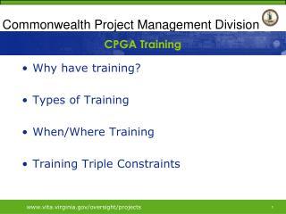 CPGA Training