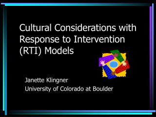 Cultural Considerations with Response to Intervention (RTI) Models