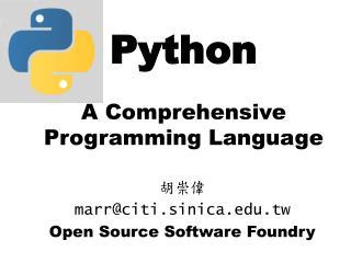 Python A Comprehensive Programming Language