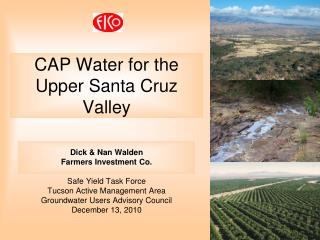 CAP Water for the Upper Santa Cruz Valley