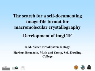 The search for a self-documenting image-file format for macromolecular crystallography