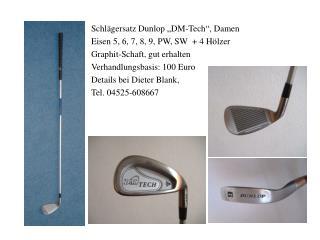 """Schlägersatz Dunlop """"DM-Tech"""", Damen Eisen 5, 6, 7, 8, 9, PW, SW  + 4 Hölzer"""