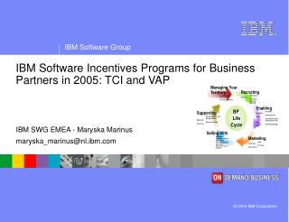 IBM Software Incentives Programs for Business Partners in 2005: TCI and VAP