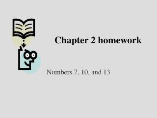 Chapter 2 homework