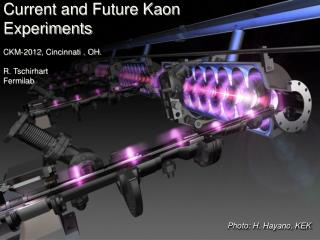 Current and Future Kaon  Experiments CKM-2012, Cincinnati , OH.   R. Tschirhart Fermilab