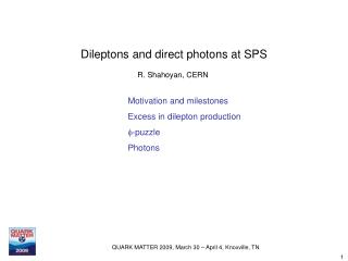 Dileptons and direct photons at SPS