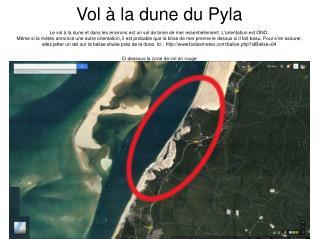 Vol à la dune du Pyla