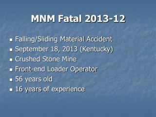 MNM Fatal 2013-12