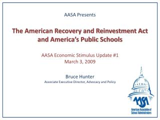 Economic Recovery & Reinvestment Act