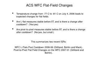 ACS WFC Flat-Field Changes