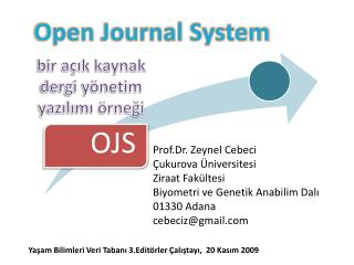 bir açık kaynak dergi yönetim yazılımı örneği