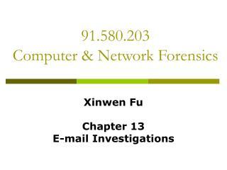 91.580.203  Computer & Network Forensics