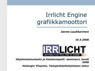 Irrlicht Engine grafiikkamoottori